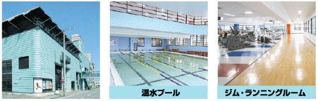 プラスワン館内写真:温水プール/ジム・ランニングルーム